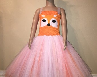 Fox Tutu Dress Complete With Attached Tail And Matching Headband.