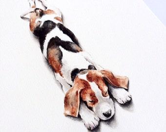 Dog Owner Gift, Custom pet portrait, original watercolor painting dog cat animal pet lover painting handmade wall art gift