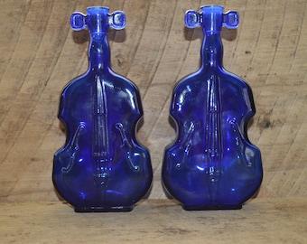 Blue Glass Violin , Fiddle , Cello , Violin Vase