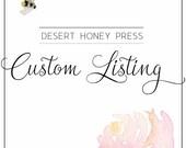 Custom Listing For Kerry