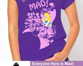 Disney Alice in Wonderland Mad hatter Tea Party Women's T Shirt