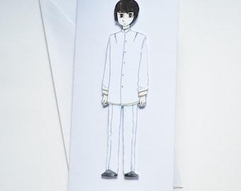 Japan - Hetalia Handmade Greetings Card - Happy Birthday - Well Done - Thank You - Friend Card - Blank