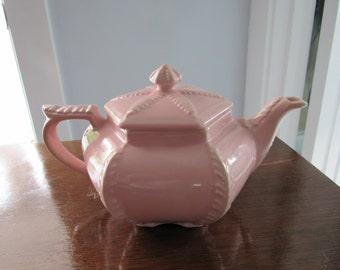 Vintage Pink Hall Teapot Victorian Series Disraeli Plume Pattern  pattern 62   94