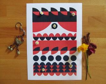 PIRATE PRINT, scandinavian art, scandinavian poster, creature print, nursery print, pirate poster, scandinavian style, nursery poster,