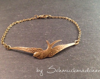 Bracelet bronze swallow