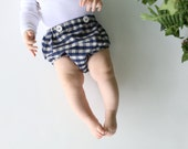 Baby Boy Bloomers in Check