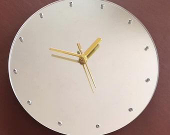 Silver Mirror Clock