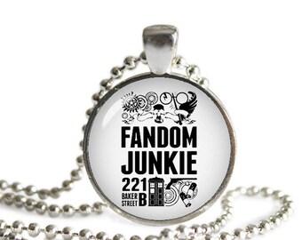 Fandom Jewelry Necklace Pendant Supernatural Dr. Who Fan Sherlock Geeky Fangirl Fanboy