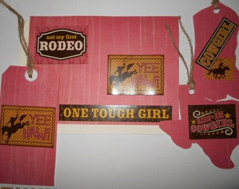 Texas cowgirl greeting card set