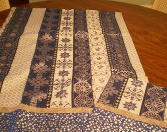 pair blue and silver pillow cases