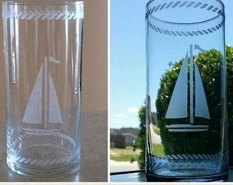 Nautical-  Sailboat Vase