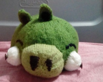 Knitted, Green, pig, toy, angry, bird,