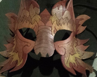 Fire elemental leather mask