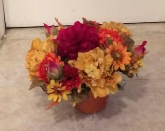 Autumn Silk Centerpiece, Fall Silk Centerpiece, Autumn Silk Flower Arrangement, Fall Silk Flower Arrangement, Fall SIlk Flower Bouquet