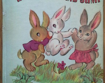 Vintage 1947 Tell-a-Tale Book, HOP, SKIPPY and JUMP #866
