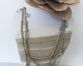 Italian silk multi loop necklace