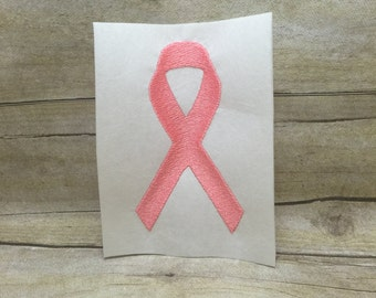 Cancer Ribbon Embroidery Design, Awareness Ribbon Embroidery Design