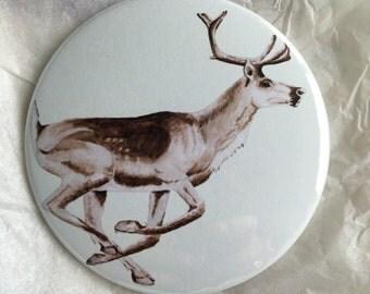 Reindeer pocket mirror