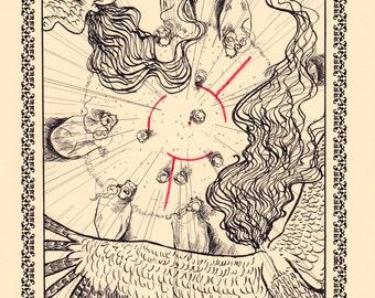 Blood Magic A4 Print and Comic