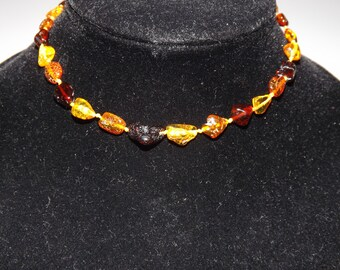 Natural Baltic amber baby teething necklace ~ 8 gr