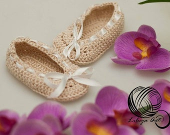 """Booties - shoes """"Inspiration"""", Baby Booties, Baby Loafers, Baby Loafer Booties, Crochet baby booties, Crochet baby loafers"""