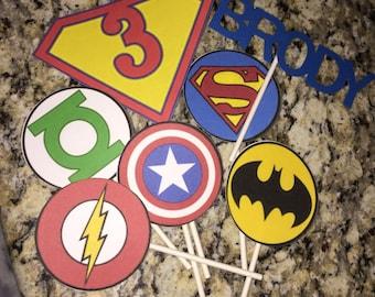 Super Hero Cupcake Toppers