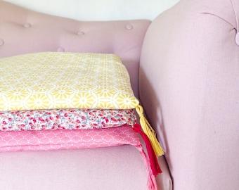 Powder pink sofa