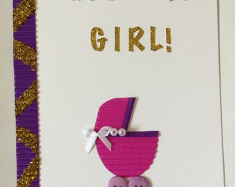 Handmade 'its a girl' card