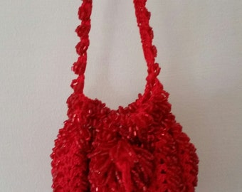 Red Beaded Coin Purse
