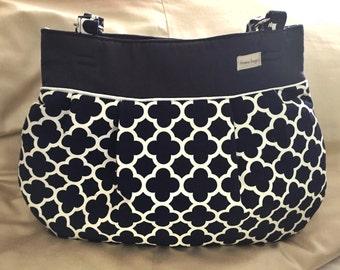 Best Baby Bag Ever!  Baby - Mama Combo Bag!  Quatrefoil diaper bag - toddler bag - READY TO SHIP!