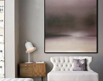 "Large Abstract Oil Paintin ""Sunrise"""