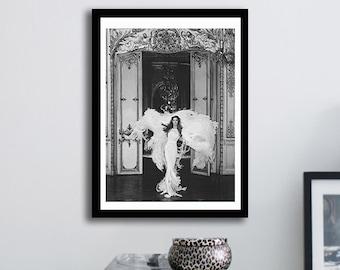 Poster poster gloss of gisele bundchen in harpers bazaar, feminine and original poster for the House.