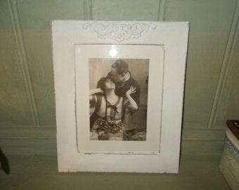shabby chic chalk white vintage inspired ornate frame