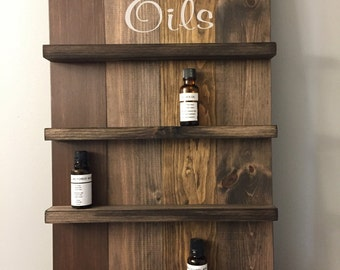 Essential Oil Storage / Wooden Sign / Wall shelves / Bath Shelves / Spice Rack / Display Signs / Storage Sign / Essential Oil Shelve