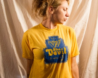 Blue Devil Yellow Vintage Shirt