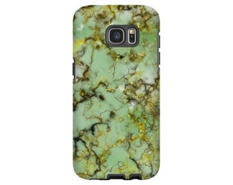 Marble phone case, green marble Galaxy S8 case, S7 edge case, Galaxy note case, Galaxy S5/S6, 3D wrap around phone case