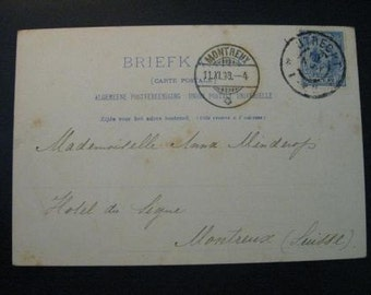 Antique postcard Netherlands used in 1898...