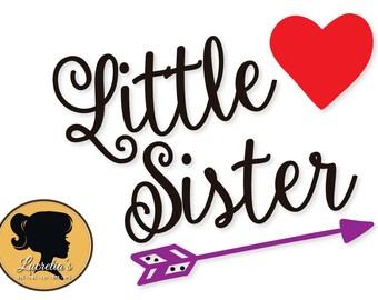 Little Sister,Sister,  Little Sister silhouette  dxf, Heart svg, SVG files for Silhouette, vector, svg, dxf eps
