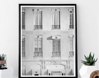Chanel Storefront Print // Minimalist Poster // Wall Art Print // Typography // Fashion // Scandinavian Poster // Boho // Modern Office