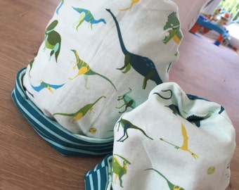 Dinosaur Roar Reversible Stretch Knit Hat