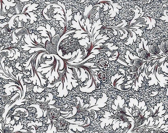 """Floral Fabric: Revive Floral Toile by Timeless Treasures  C4507 Ivory 100% cotton Fabric by the yard 36""""x43"""" (TT271)"""