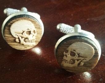 Skulls cuff links