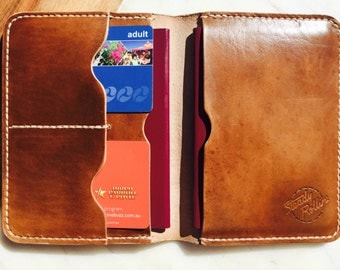 Full Grain Leather Passport Travel Wallet FREE Personalisation