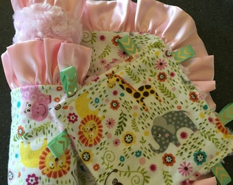 Baby blanket and taggie gift set