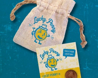 Lucky Penny  & Pouch