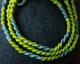 Half twist friendship bracelet set