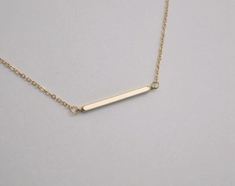 bar necklace gold necklace everyday necklace bridesmaid necklace Christmas necklace