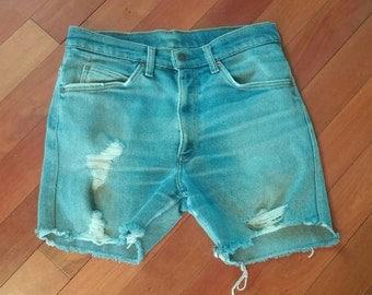 Men's Levi's Distressed Vintage Denim Shorts