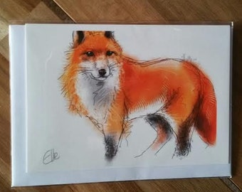 Greeting card - fox