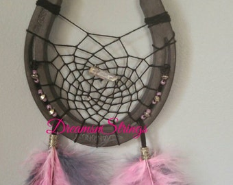 Pink Horseshoe Dream catcher